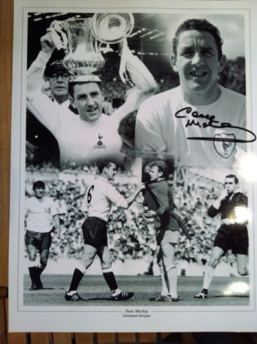 DAVE MACKAY: 16x12 inch photosigned by Tottenham H