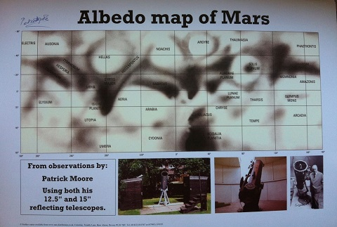SIR PATRICK MOORE: 16x12 inchprint Albedo Map of M