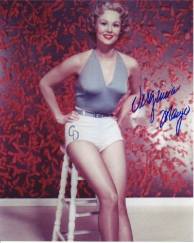 VIRGINIA MAYO: 8x10 inch photosigned by Hollywood
