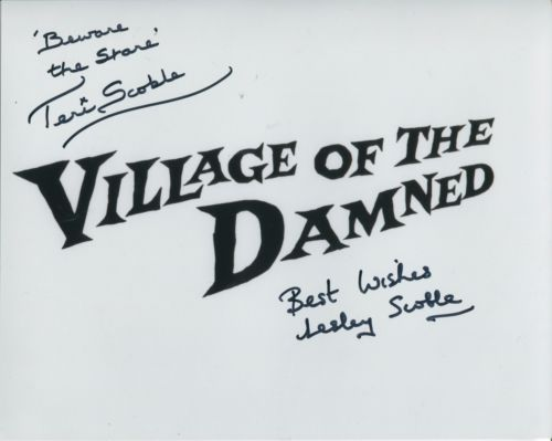 VILLAGE OF THE DAMNED: 8x10 inchphoto signed by Te