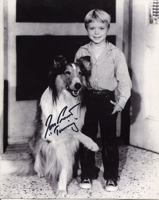 LASSIE: 8x10 inch photo signed byJon Provost who s