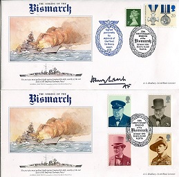 BISMARCK: Set of FOUR AJ Bradburysinking of the Bi