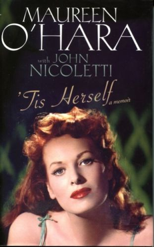 MAUREEN OHARA: Hardback book,tis herself, signed b