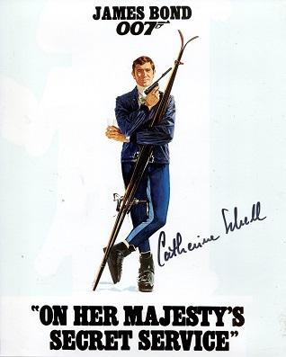 JAMES BOND: 8x10 inch photo signedby actress Cathe