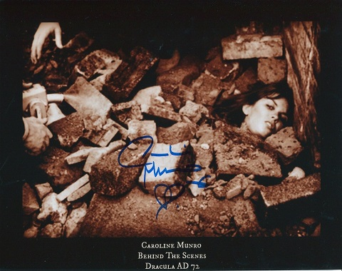 DRACULA AD72: 8x10 inch photosigned by Caroline Mu
