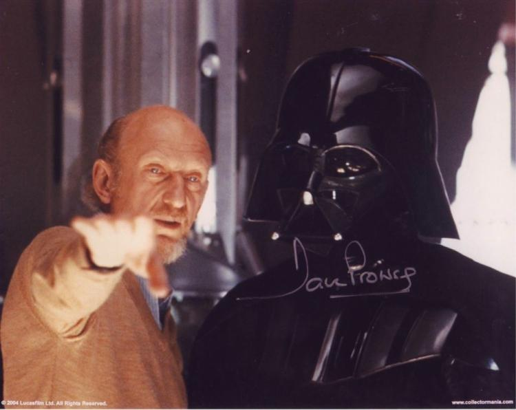 DARTH VADER: 8x10 inch photosigned by actor Dave P