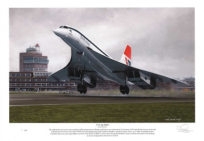 _Concorde Limited edition signed print:_A New Age