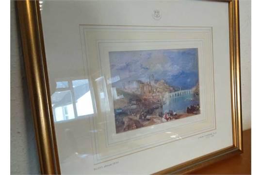 JMW Turner Limited Edition Print. Fine framed exam