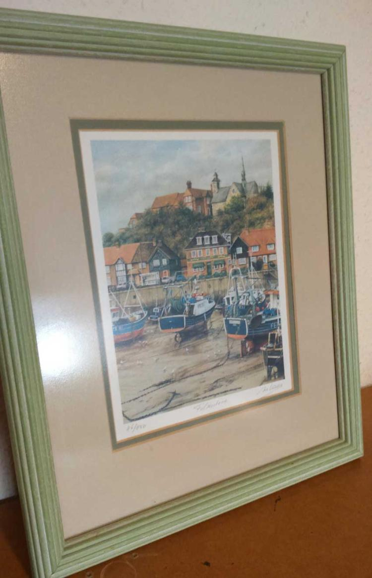 Artist McVisset signed print. Lovely print of a pa