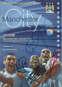 Manchester city v Leicester programme dated 9/11/2