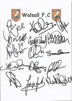 Walsall 2006 sheet signed by 15 - Walker, Hawley,