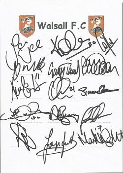 Walsall 2006 sheet signed by 15 - Walker, Hawley,
