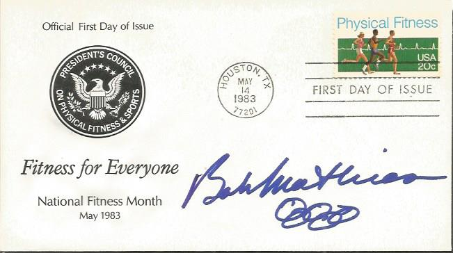 BOB MATHIAS signed First Day Cover with signing de