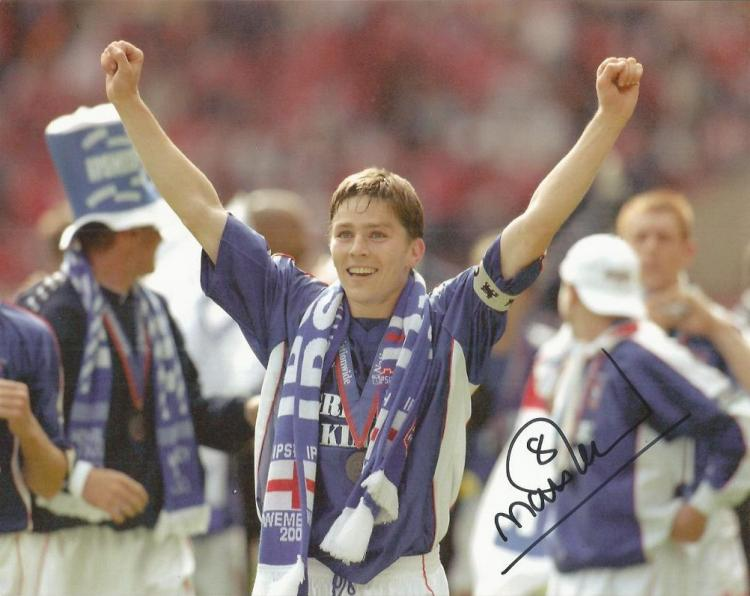 MATT HOLLAND signed 8x10 Ipswich Town Photo. Good