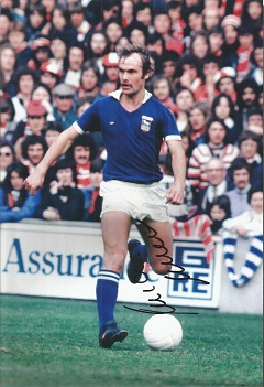 MICK MILLS signed 8x12 Ipswich Town Photo. Good co