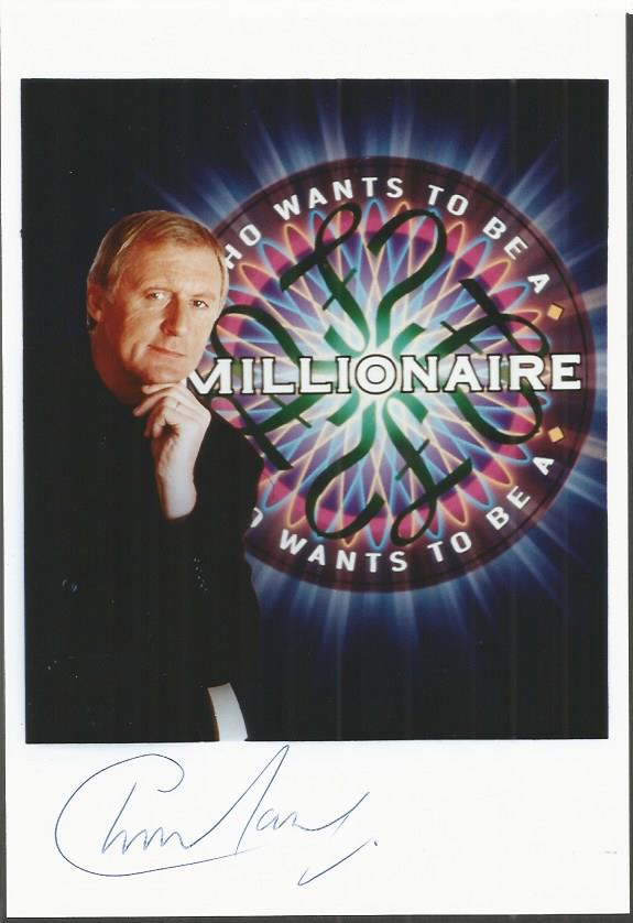 CHRIS TARRANT signed Who Wants to be a Millionaire