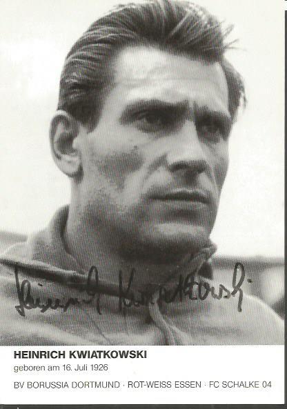 HEINRICH KWIATKOWSKI signed Germany 4x6 Photo. Goo