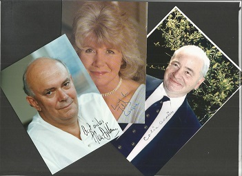 AUTHORS 3 signed Photos Colin Dextor, Sir Alan Ayc