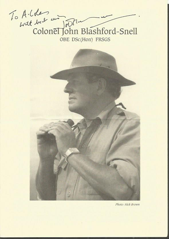 JOHN BLASHFORD-SNELL signed Brochure. Good conditi