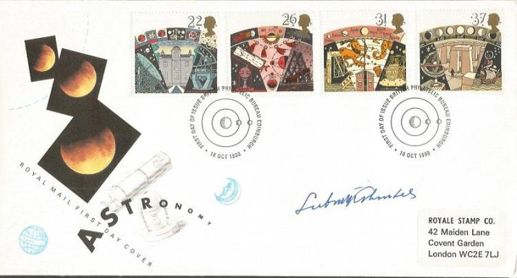 Dr LUBOS KOHOUTEK signed Space First Day Cover. Go