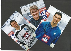 BIRMINGHAM CITY 3 signed 4x6 photos Steve Bruce, J