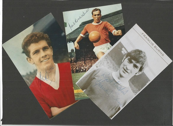 MANCHESTER UNITED 3 signed 4x6 photos Francis Burn