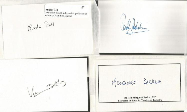 BRITISH POLTICS signed Cards David Steel, Norman L