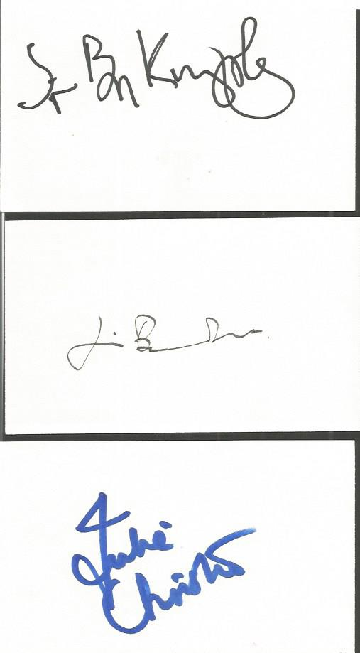 ACTORS / ACTRESSES signed cards Jim Broadbent, Sir