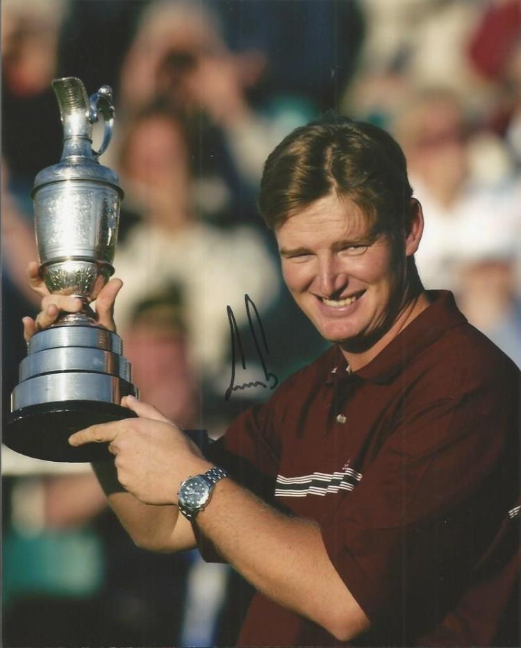 Ernie Els signed 8x10 Photo. Good condition. All i
