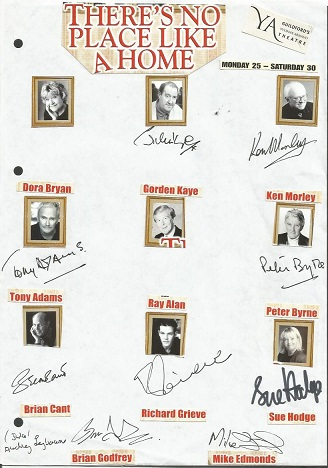 Theatre Autograph Collection. Seven cast signed sh