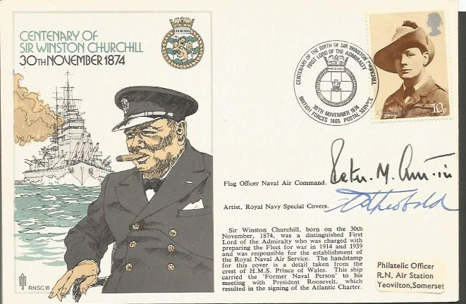 1974 CENTENARY OF SIR WINSTON CHURCHILL SIGNED COV