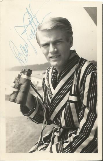 Adam Faith signed 6 x 4 b/w photo British teen id