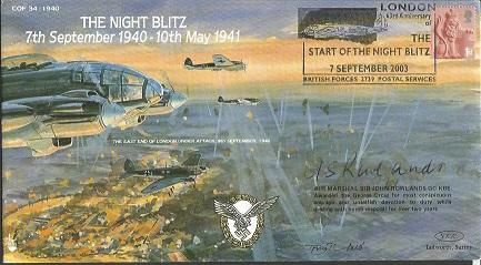 Air Marshall Sir John Rowlands signed Centenary of