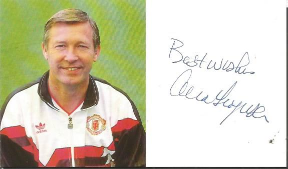 Alex Ferguson 4 x 3 signed colour photo promo card
