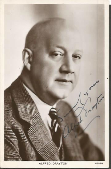 Alfred Drayton signed vintage 6 x 4 postcard. Brit