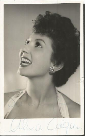 Alma Cogan signed small 6 x 4 b/w photo.  English