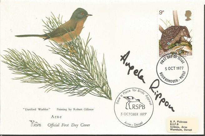 Angela Rippon signed 1977 RSPB Wildlife FDC with s
