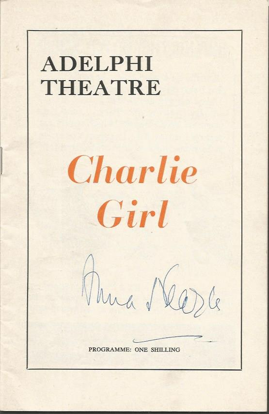 Anna Neagle signed theatre programe for Charlie Gi