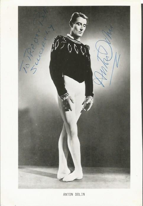 Anton Dolin Ballett legend signed b/w magazine pho