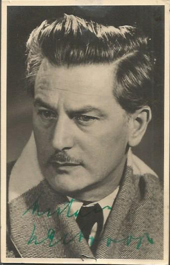 Anton Walbrook signed vintage photo. Austrian act
