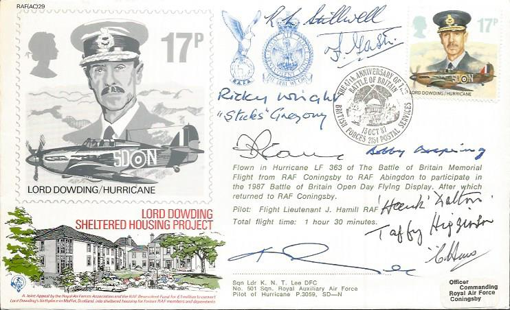 Battle of Britain veterans signed cover. _Lord Dow
