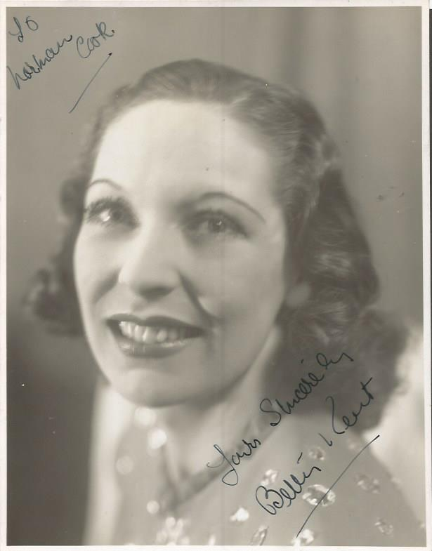 Betty Kent signed vintage photo.  Dedicated Good c