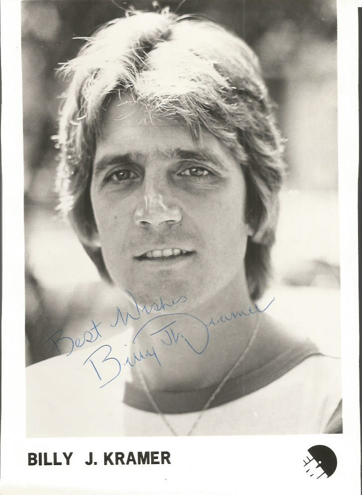 Billy J Kramer signed 10 x 8 b/w photo. Pop singer