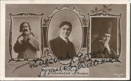 Bransby Wiliams signed vintage 6 x 4 postcard. Bri