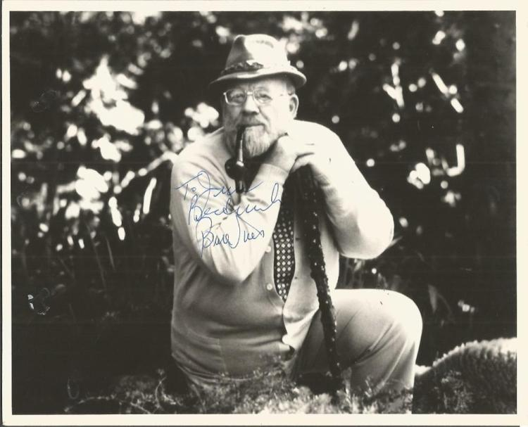 Burl Ives signed 10x8 b/w photo.  Dedicated to Jan
