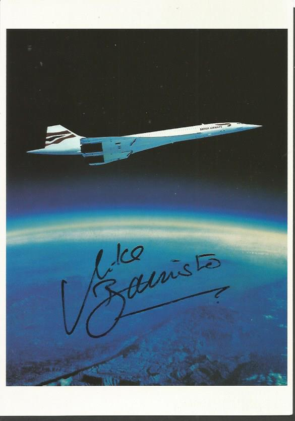 Capt Mike Banister Concorde postcard flown on the