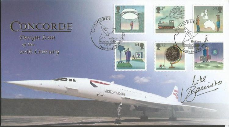 Capt Mike Bannister Chief Concorde pilot signed In
