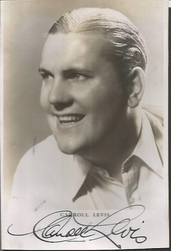 Carroll Levis signed small 6 x 4 b/w photo.  Talen