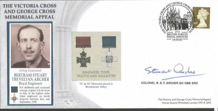 Col B S T Archer GC signed 2003 GC VC cover awarde