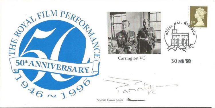 Col Patrick Porteous VC signed concorde flown 1998